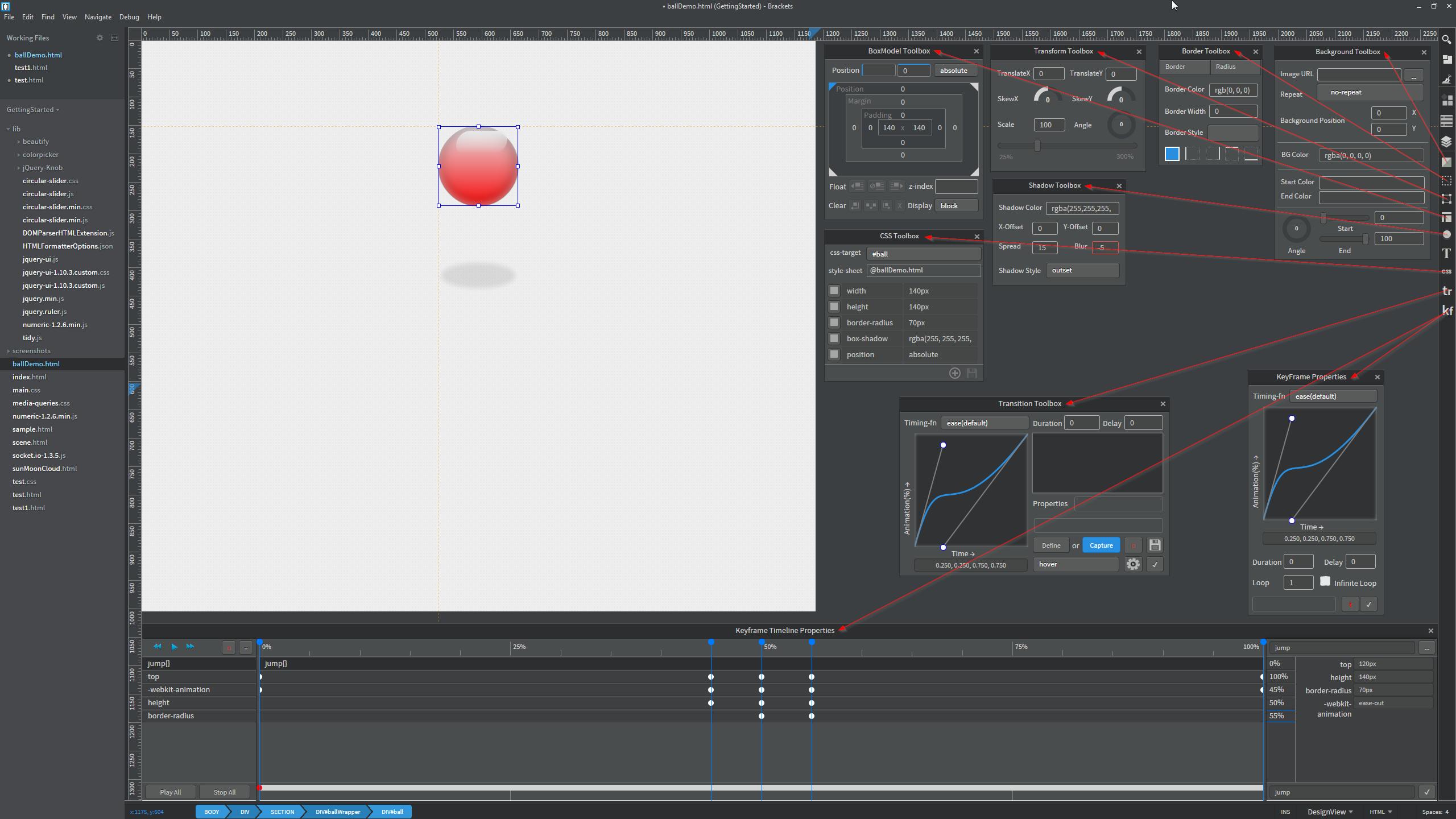 Illustration controls