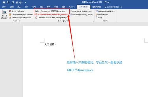设置参考文献格式