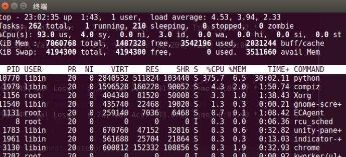内存和CPU占用