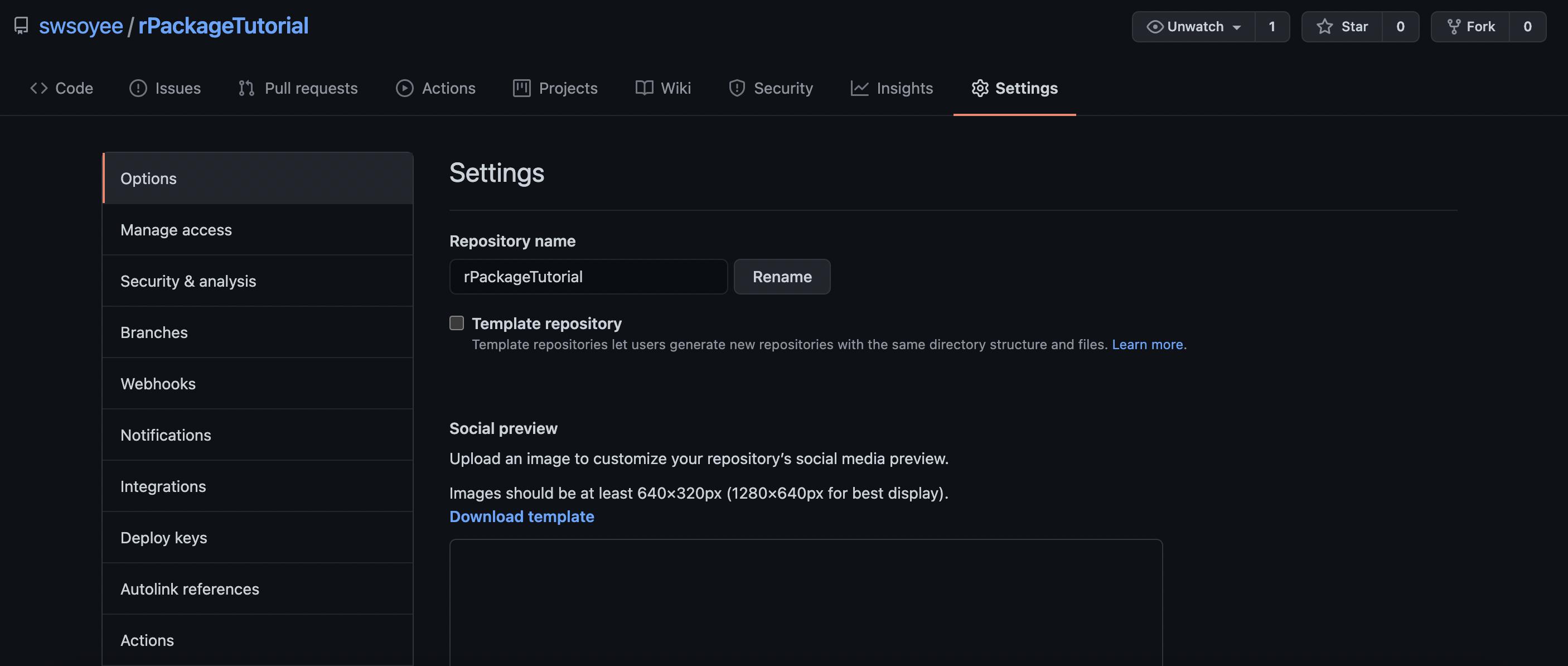 3.11.2 来到设定页面。并且滚动到 `GitHub Pages` 一项。