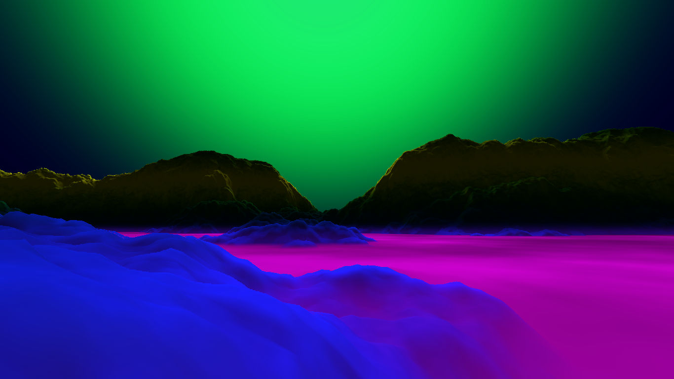 Raymarching procedural landscape generator (PRETTY PICTURES