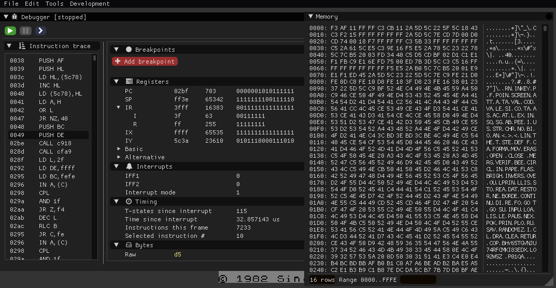 GitHub - t17dr/zxpp: ZX Spectrum emulator in C++