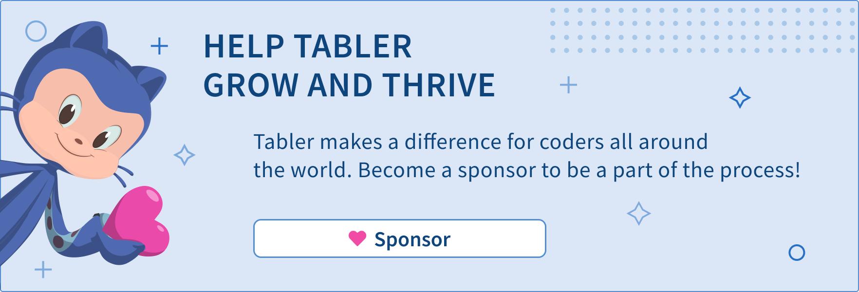 Sponsor Tabler
