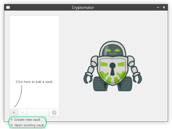 cryptomator screenshot