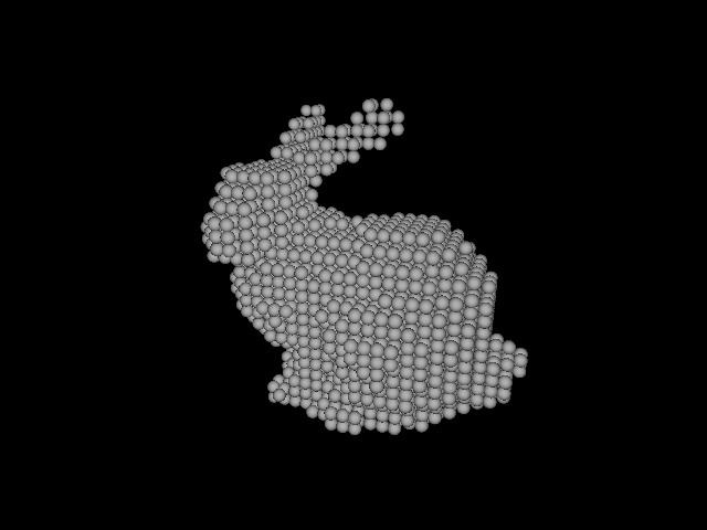 Voxelized Stanford bunny