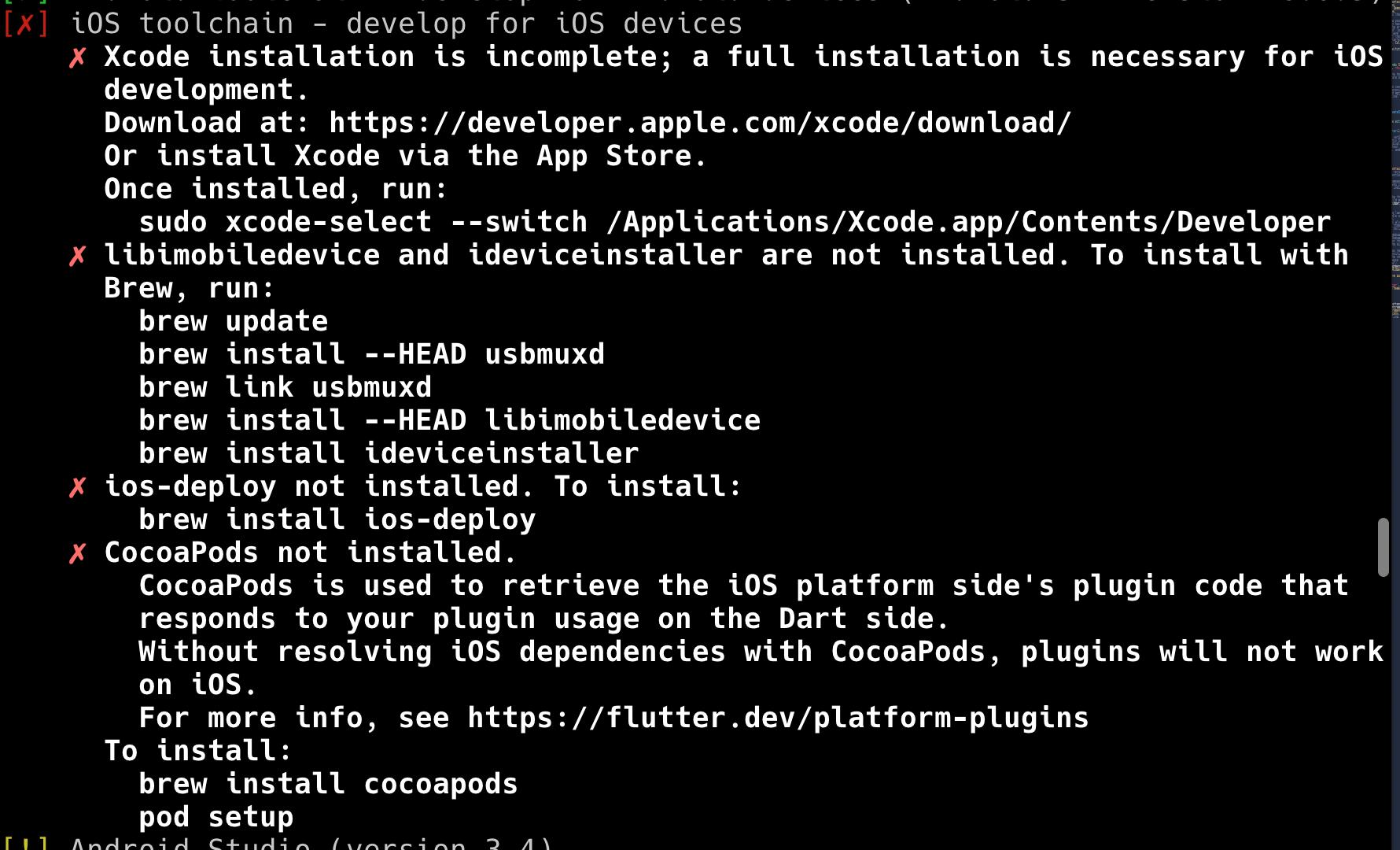 MAC 需要安卓的依赖