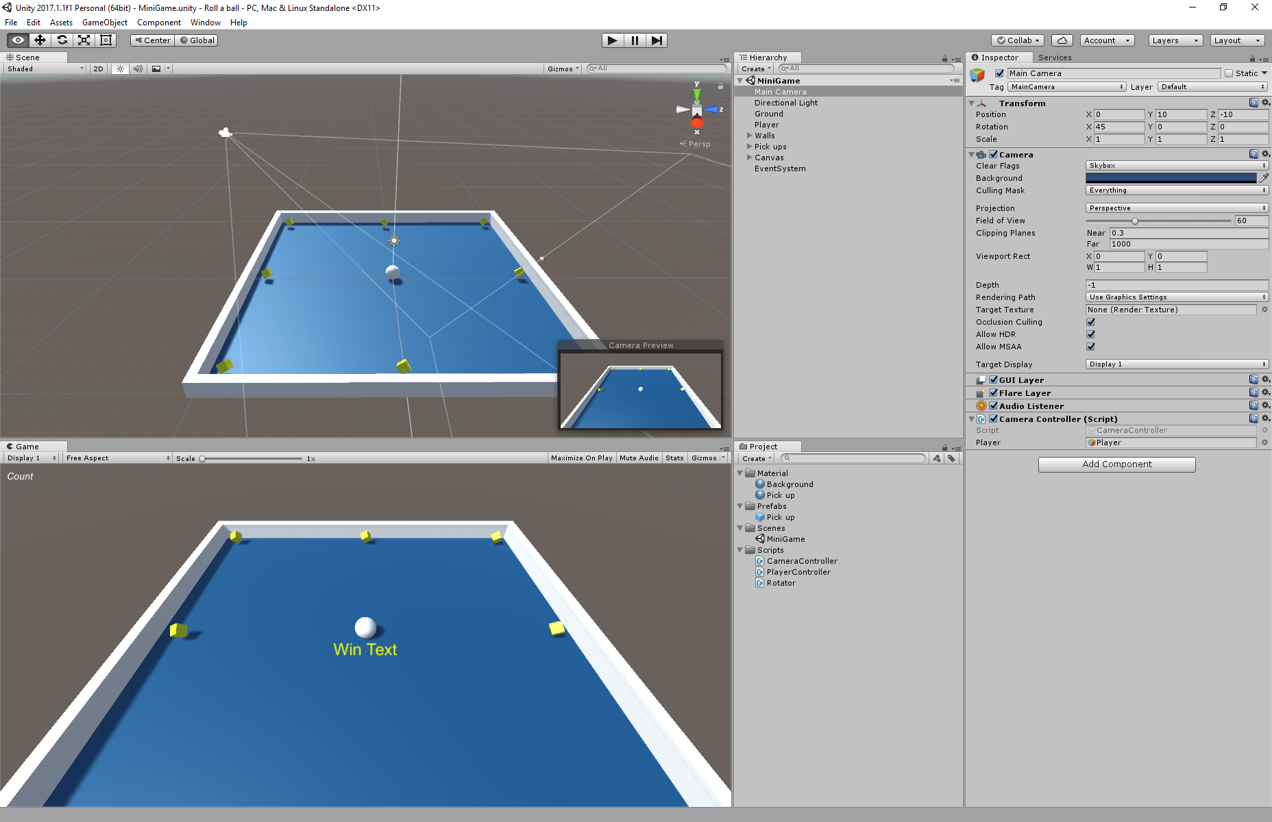 Unity3D Rolling Ball - UnityList