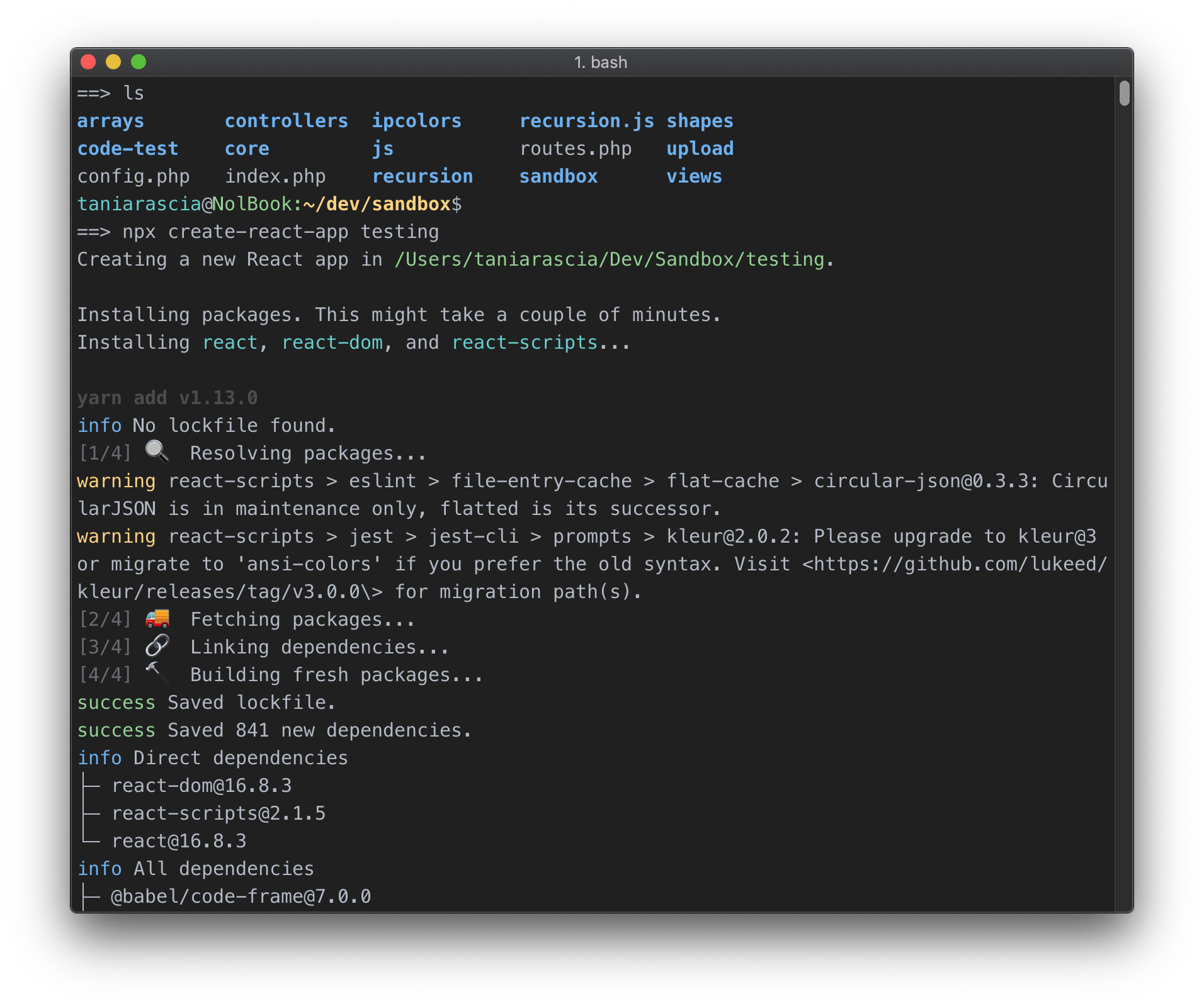 New Moon Screenshot iTerm2