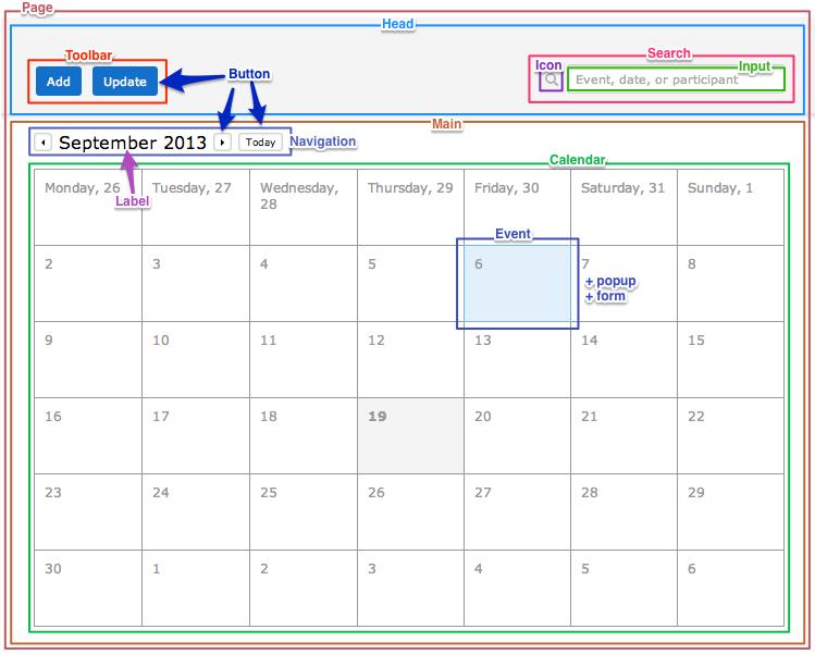 Calendar blocks