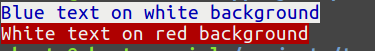 Show colors in the console