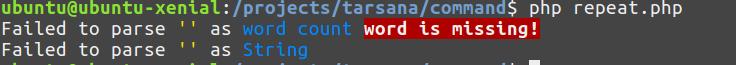 Parse error example