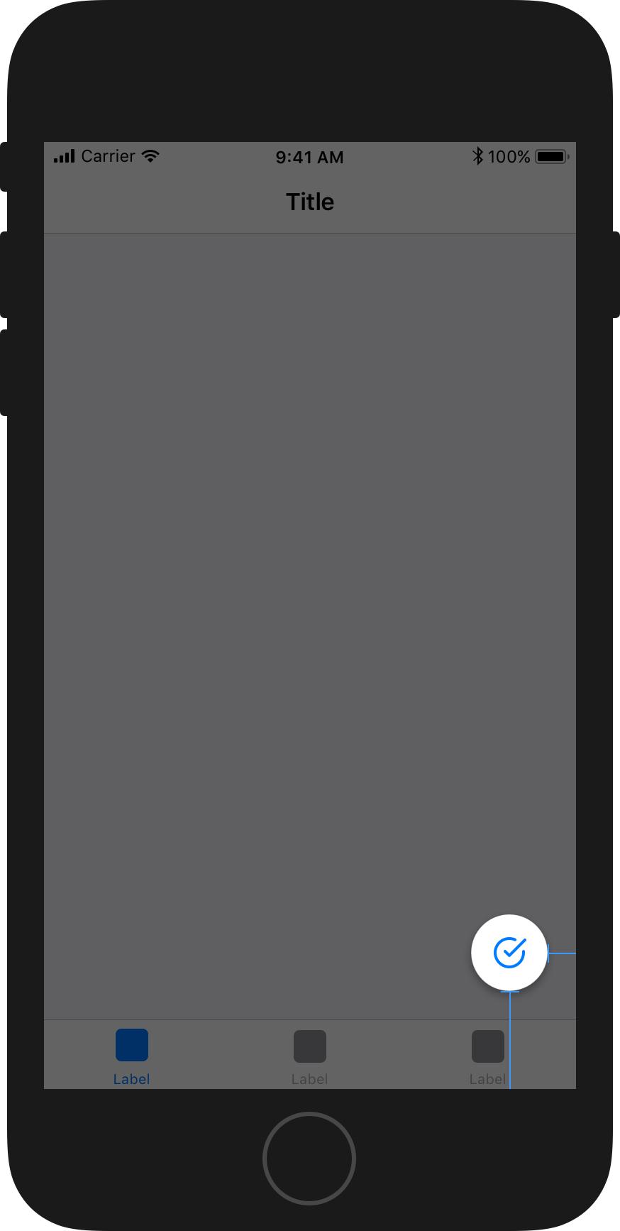 Launcher button placement