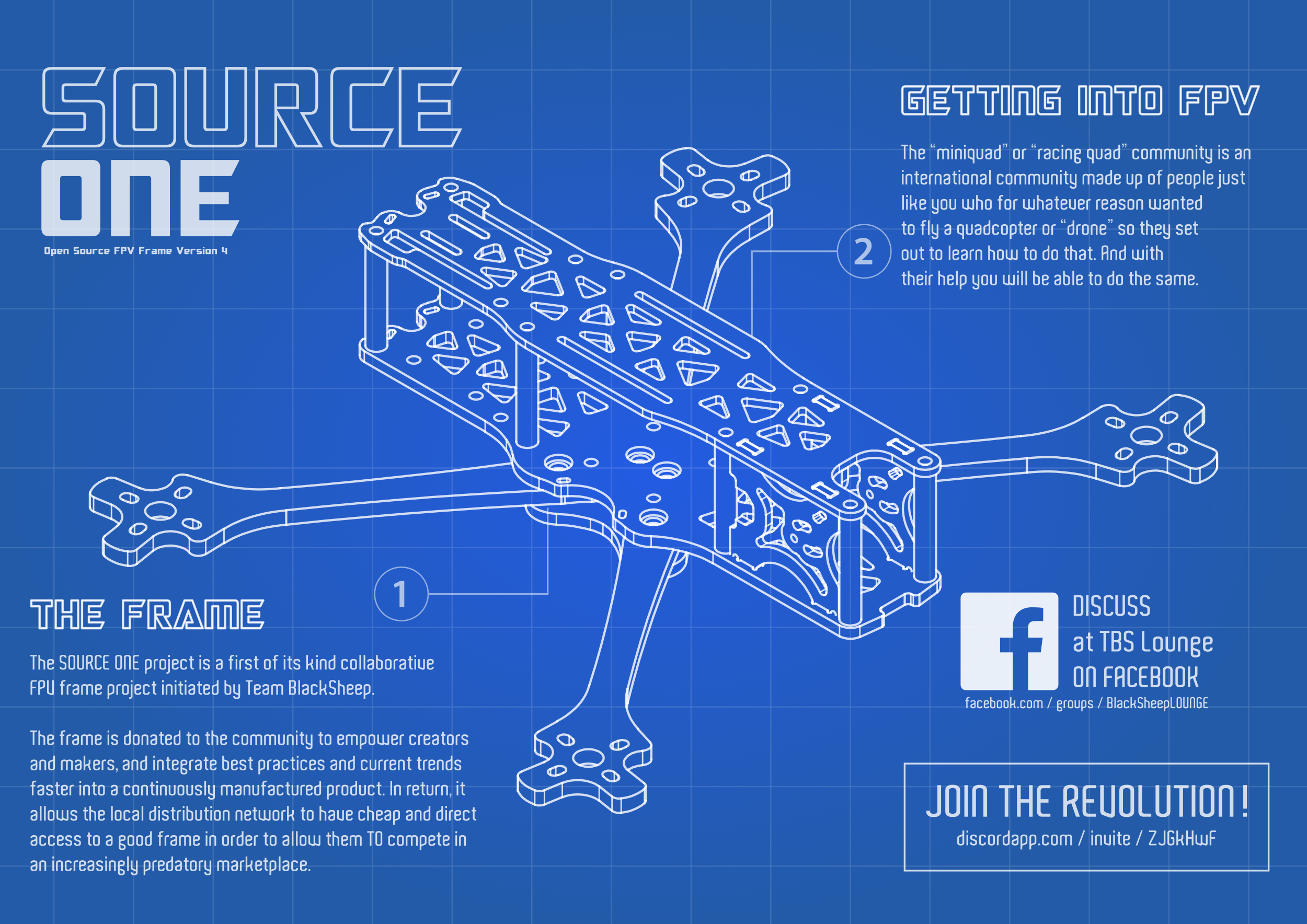 Github Tbs Trappy Source One Open Source Fpv Drone Frame