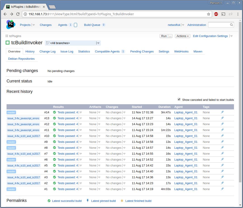 Screenshot : Choose WebHooks Tab