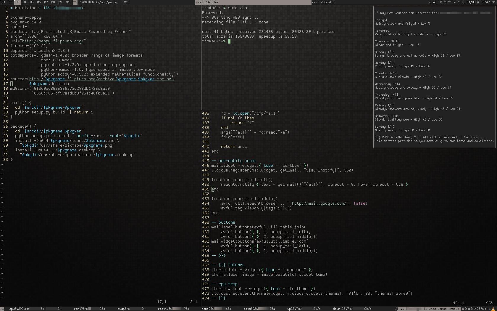 Arch Linux Desktop (2010)