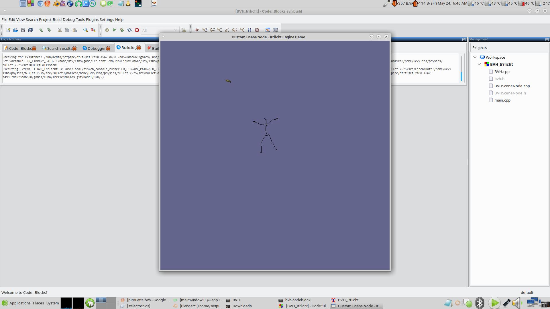 Irrlicht Engine • View topic - BVH animation player