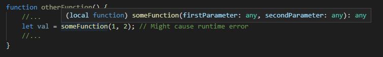 VS Code tooltip