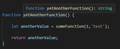 VS Code tooltip, resolved-typed