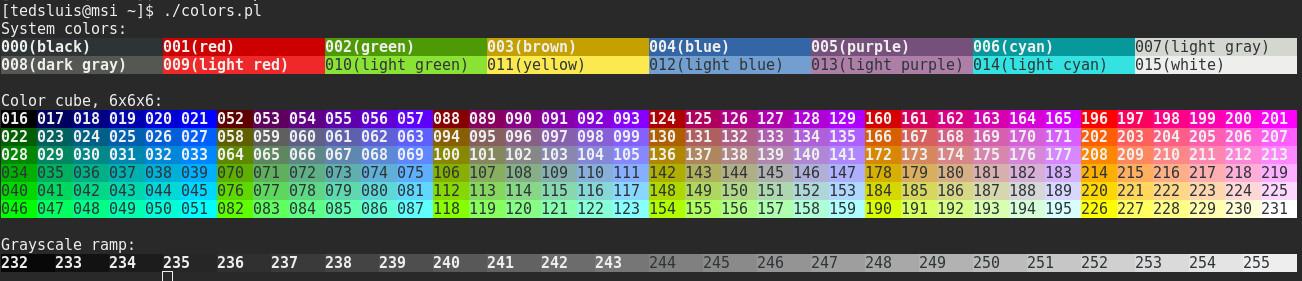 tmux colors