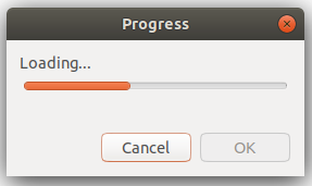 Progress dialog