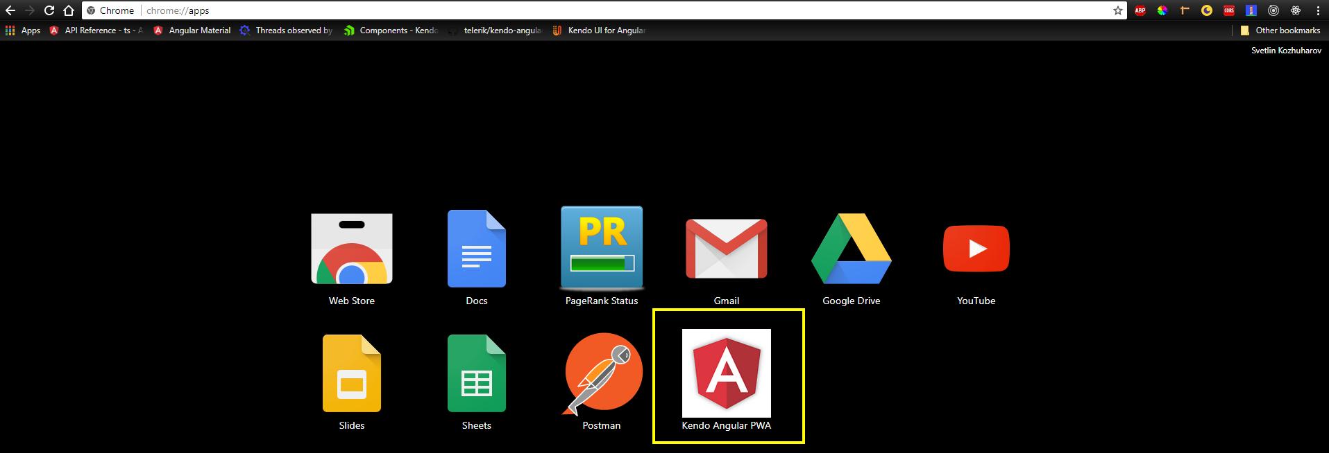Browser dashboard
