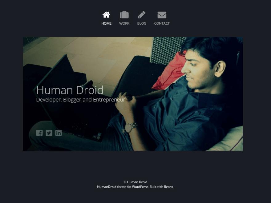 Human Droid WordPress theme