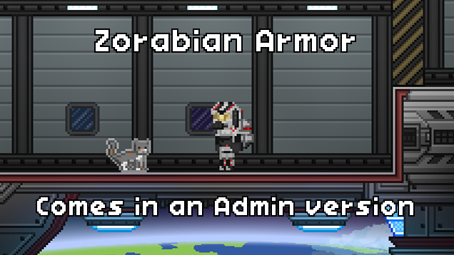 Zorabian Armor. Comes with an Admin version.