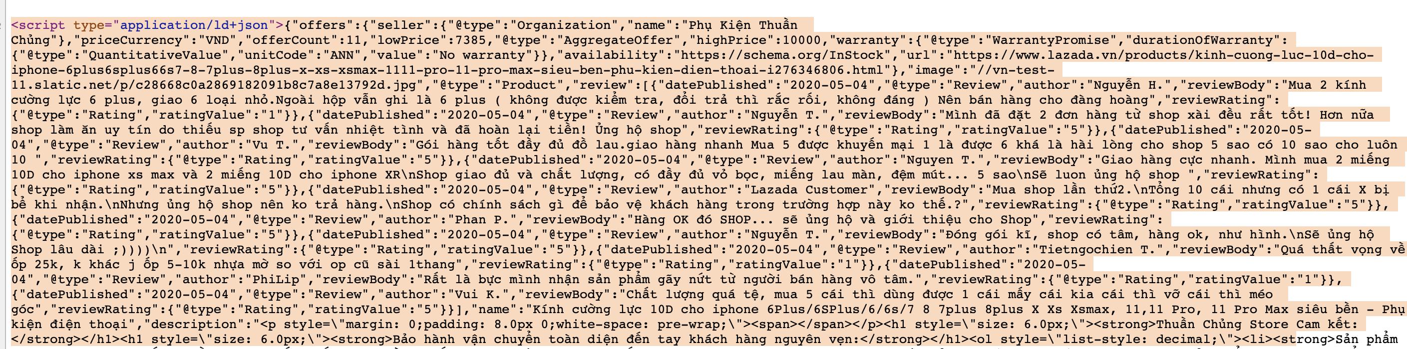 lazada product source code