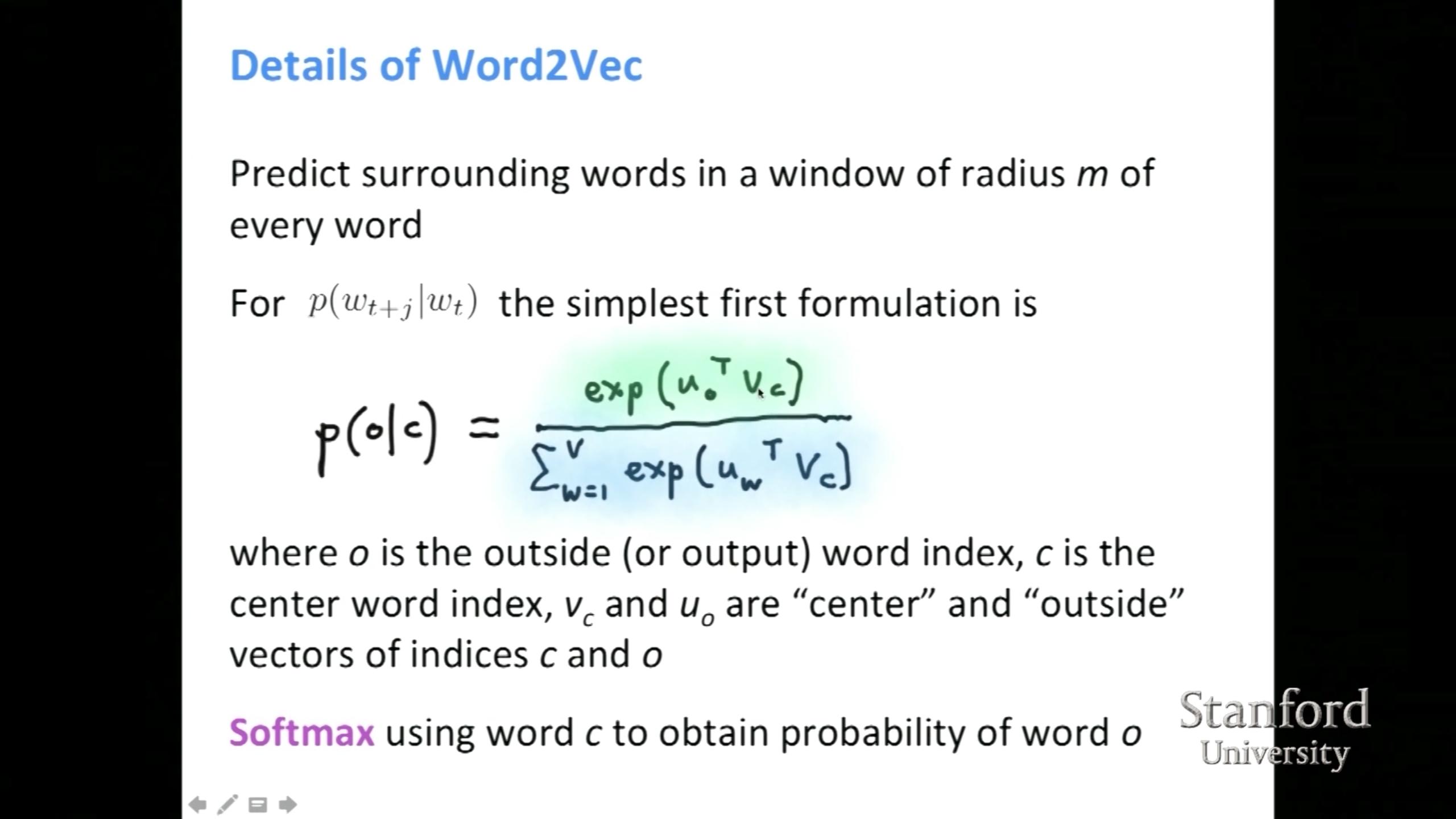 details of word2vec