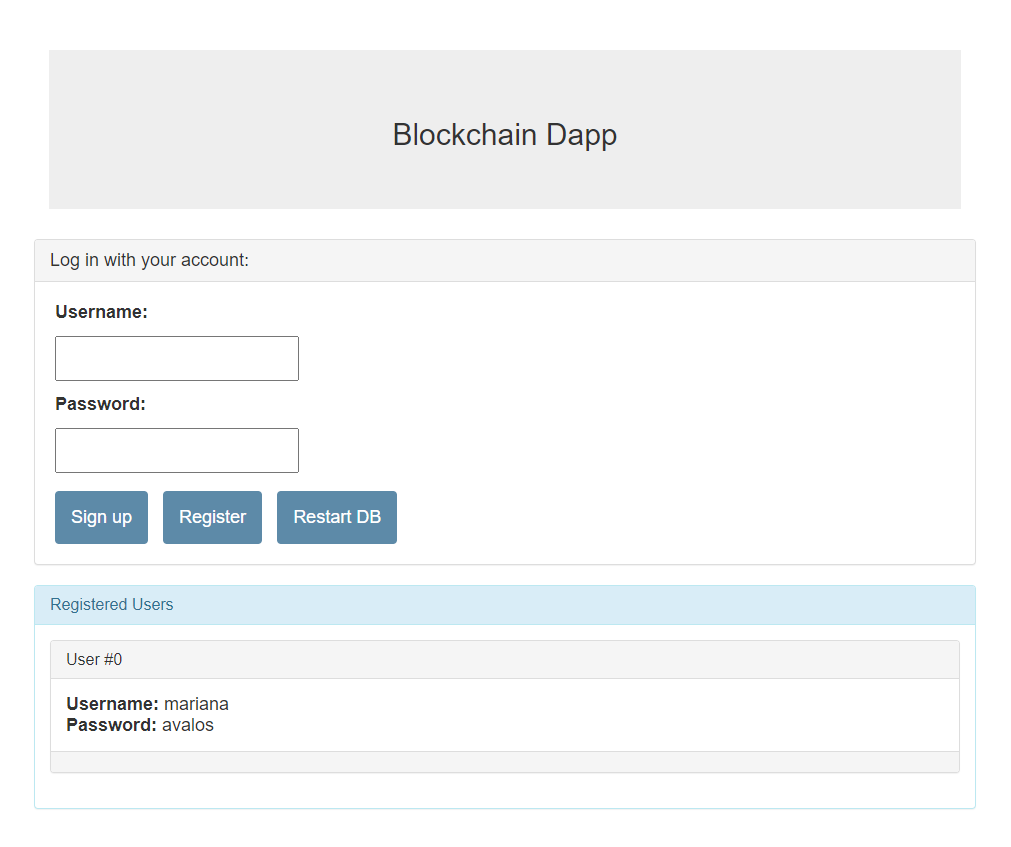 Blockchain Decentralized Application - <a href=