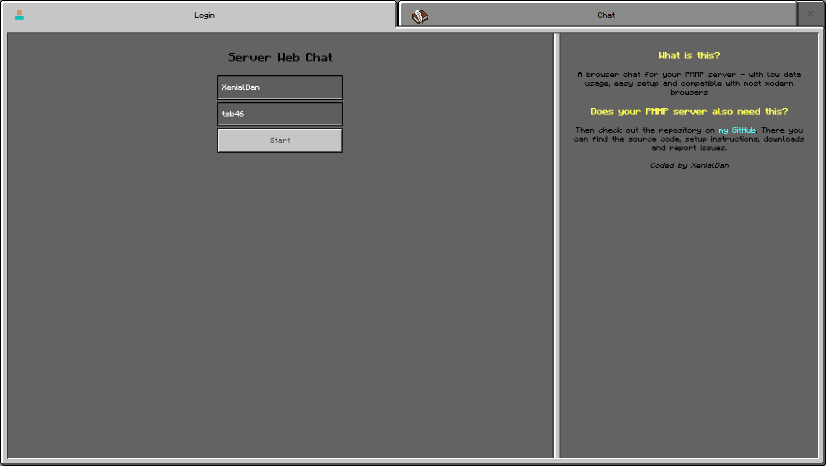 The login interface of the website