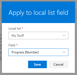 Apply to local list field