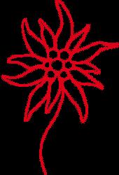 logo: edelweiss rouge