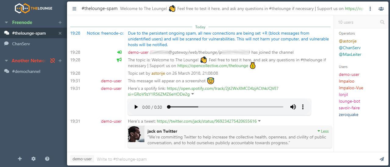 GitHub - thelounge/thelounge: 💬 Modern, responsive, cross