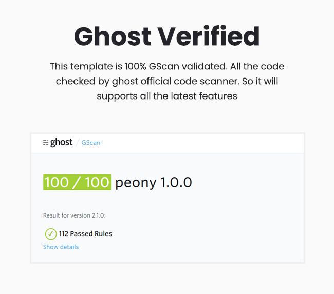 Peony - Responsive Premium Ghost Theme - 2