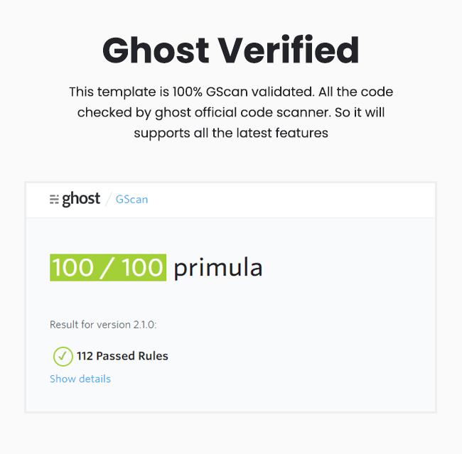 Primula - Bootstrap 4 Minimal Blog Ghost Theme - 4