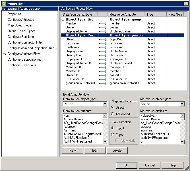 Configure Attribute Flow