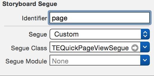 Configuring a segue