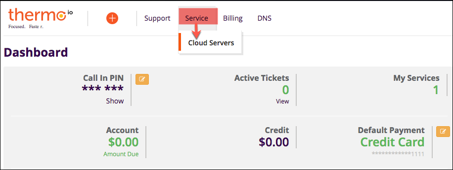 service to cloud servers