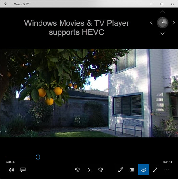 Windows 10 Movie and TV Player