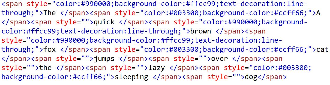 Output HTML