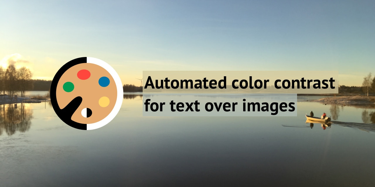 🎨 Automated color contrast for text over images