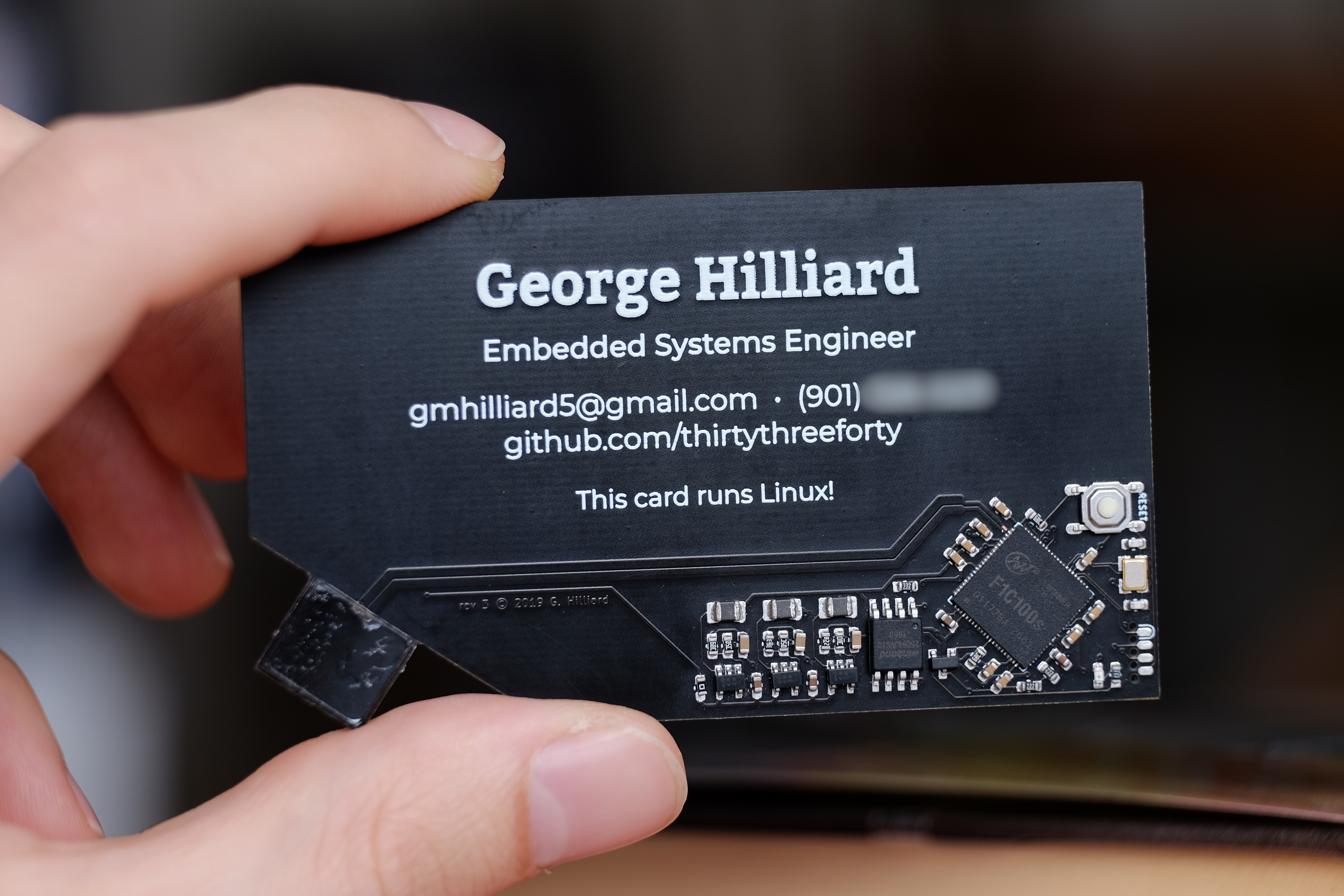 business card top