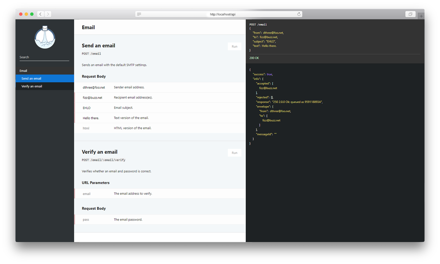 GitHub - dthree/mailit: A tiny drop-in REST API to send emails