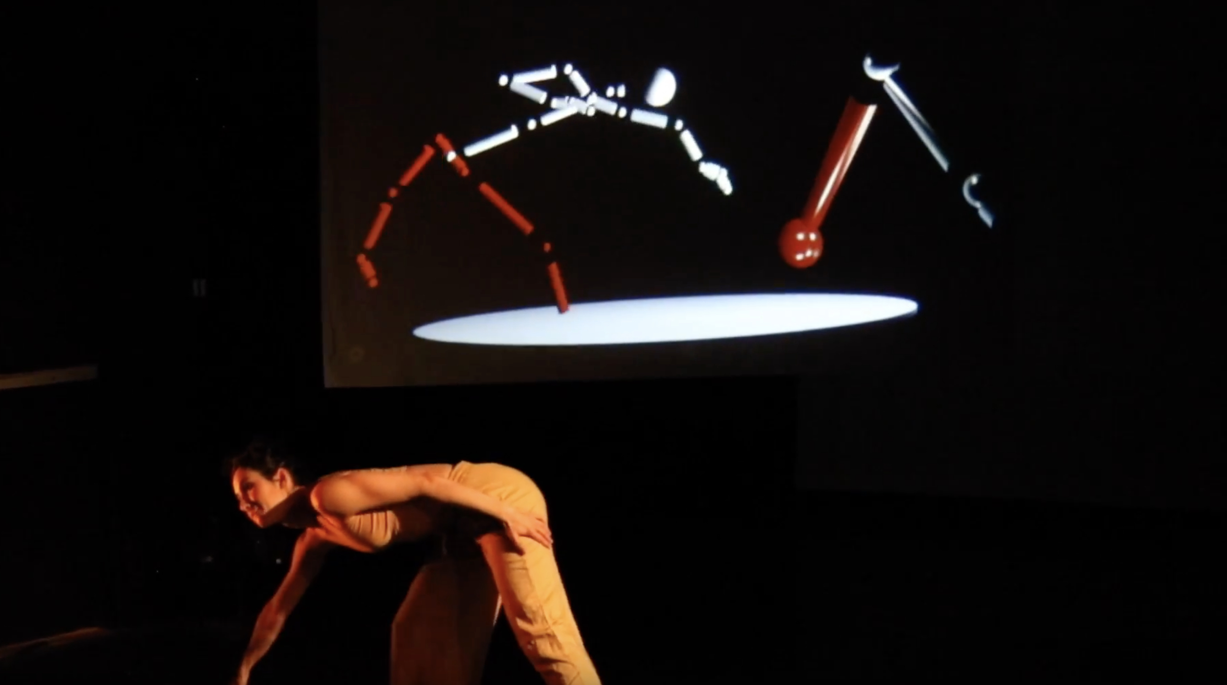 Catie Cuan performing with the concat tool. Still from video by Kevin Barry