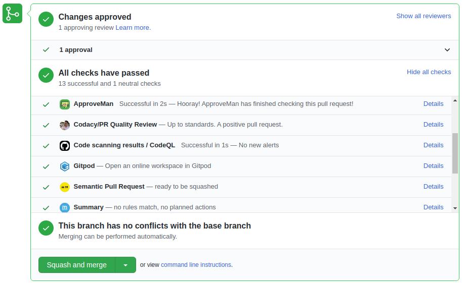 Screenshot of ApproveMan app