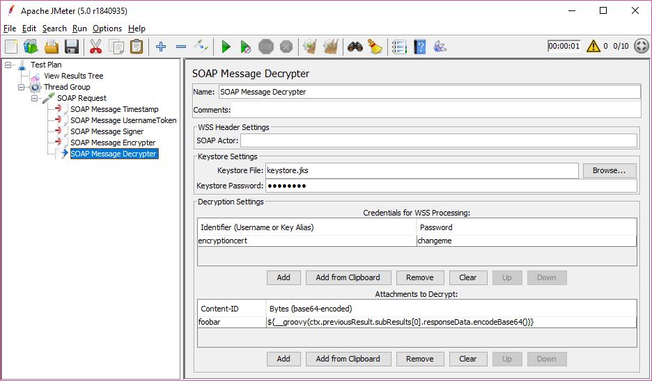 SOAP Message Decrypter