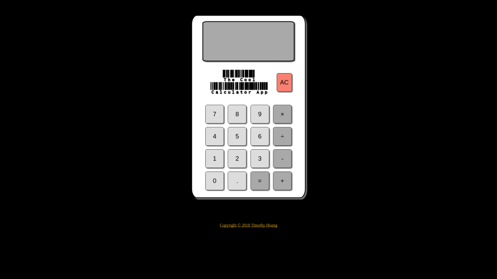 The Cool Calculator App