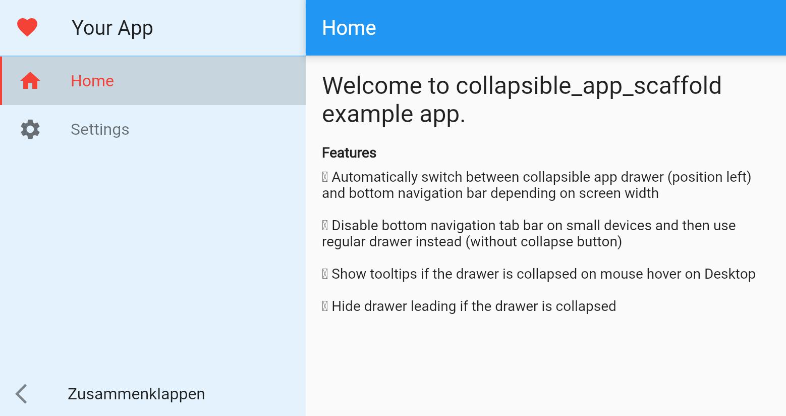 Drawer desktop