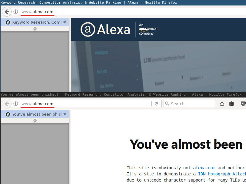alexa.com firefox addressbar comparison